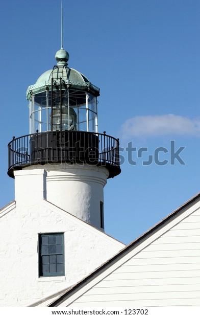 Tight crop on lighthouse
