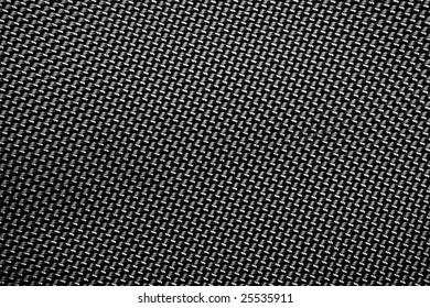 A tightly woven carbon fiber background close up