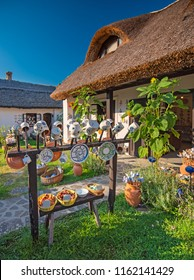 TIHANY, HUNGARY - 12 AUGUST, 2018: Nice old houses in the old town of Tihany, Hungary on 12 August, 2018.