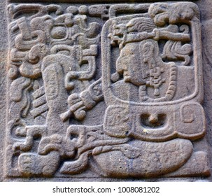 TIKAL GUATEMALA 05 03 16 : Maya stelae are monuments that were fashioned by the Maya civilization of ancient Mesoamerica. The earliest dated stela was recovered from the great city of Tikal