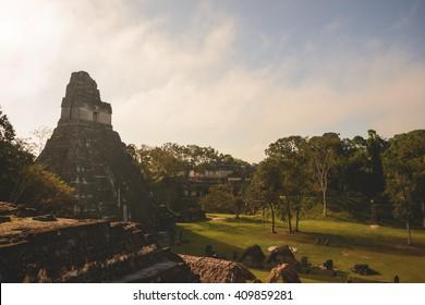 The Tikal temple complex in Guatemala