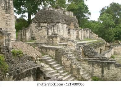 Tikal.Mayan pyramid in Guatemala.