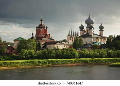 Tikhvin Assumption Monastery in Tikhvin. Leningrad oblast. Russia