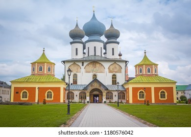 Tikhvin, Leningrad region, Russia-July 23, 2018: Tikhvin Monastery.