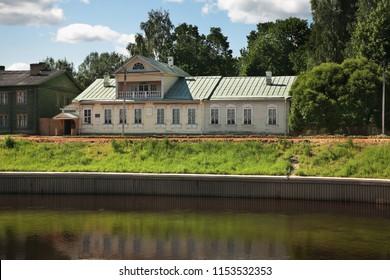 TIKHVIN. RUSSIA. 09 JUNE 2015 : Historic house museum of Nikolai Rimsky-Korsakov in Tikhvin. Leningrad oblast. Russia
