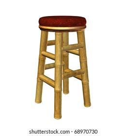 Tiki bar stool illustration on a white background