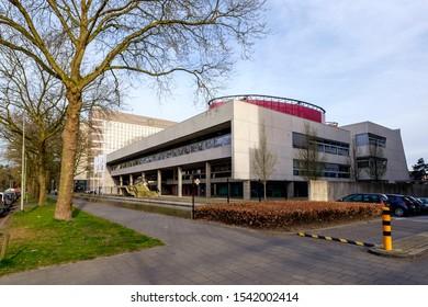 Tilburg, Holland, March 2017. Building of the Tilburg University