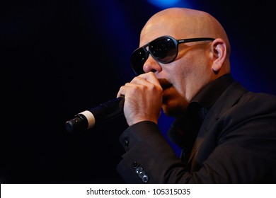 TILBURG, THE NETHERLANDS - JUNE 16: Pitbull plays on the first day of the two-day Festival Mundial on June 16, 2012 in Tilburg