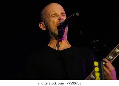 TILBURG, THE NETHERLANDS - JUNE 19: Moby - Richard Melville Hall - sings on the second day of the two-day Festival Mundial on June 19, 2011 in Tilburg