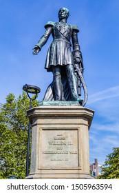 Tilburg Netherlands - September 10, 2019: Statue in Tilburg of William II (1792-1849) King of the Netherlands