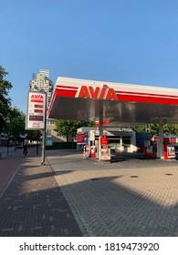 Tilburg, North Brabant / Netherlands - September 14, 2020: Avia gas station at Tilburg city centre.