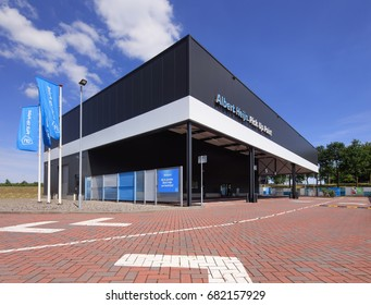 TILBURG-JULY 17, 2017. Albert Heijn Pick Up Point. Most Dutch supermarkets have pick-up service for groceries. But analysts noticed that most customers choose home delivery instead pick-up groceries.