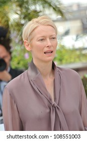 "Tilda Swinton at the photocall for her new movie ""Moonrise Kingdom"" at the 65th Festival de Cannes. May 16, 2012  Cannes, France Picture: Paul Smith / Featureflash"