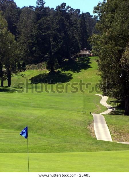 Tilden Golf Course in Berkeley. 10th hole is 395 yard par 4.