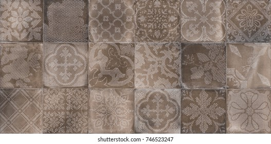 tile with an abstract pattern