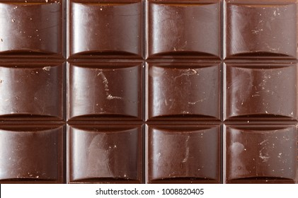 A tile of brown chocolate