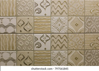 tile, ceramic mosaic geometric abstract pattern