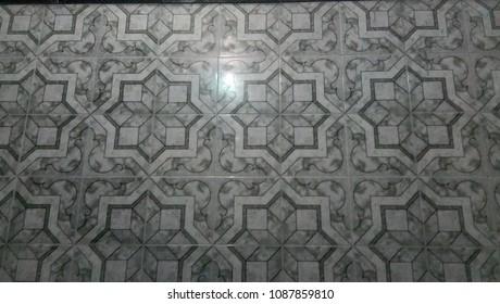 Tile design background of flowers