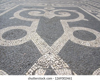 Tile Designs on the streets of Ponta Delgada, Azores, Portugal