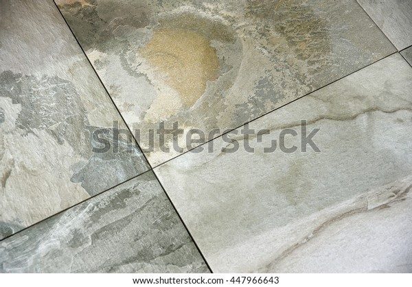 Tile floor, cement floor covered with cracks, background, texture, pattern