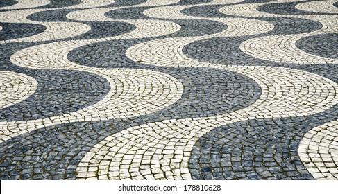 Tile floor in Lisbon, Portugal