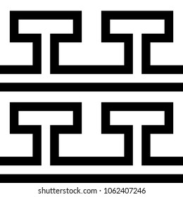 Tile greek black and white pattern