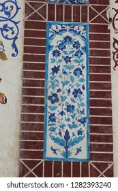 Tile at Makhdoom Rasheed Tomb with Kashi Kari Design