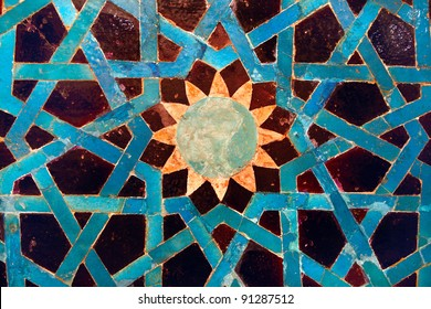 Tile mosaic panel in The Turkish and Islamic Arts Museum