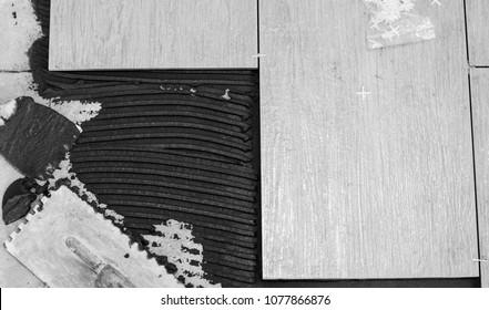 tile on the floor