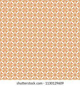 Tile orange and white pattern or seamless decoration background wallpaper