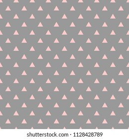 Tile pattern with pink triangles on grey background