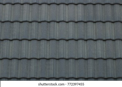 Tile roof of the house is beautifully lined.
