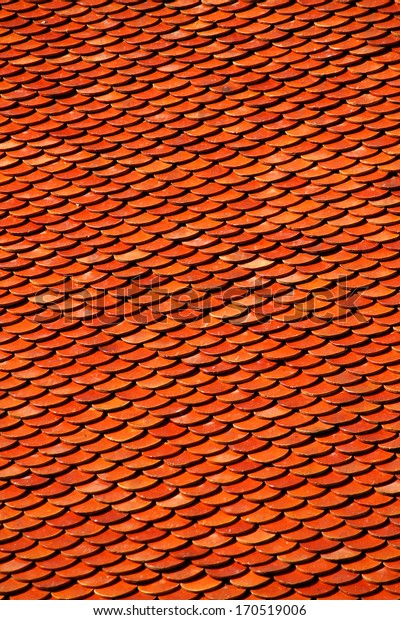 Tile roof of the temple