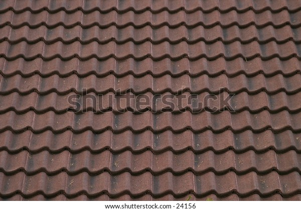 A tile roof texture pattern image.