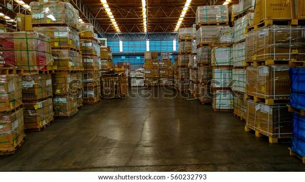 Tile Warehouse Pathum Thani Thailandjanuary 2017 Stock Photo