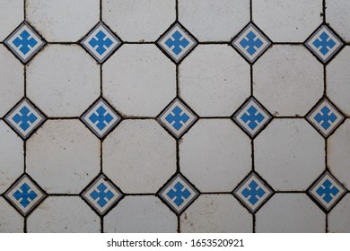 tile work on a historic building