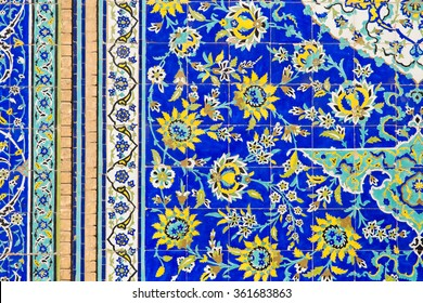 Tiled background with oriental floral ornaments