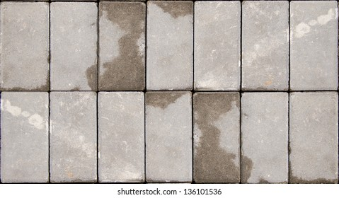 Tiled concrete pavement Pattern background texture