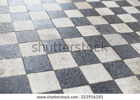 Tiled Floor Blue White Square Tiles Stock Photo Edit Now 323956181