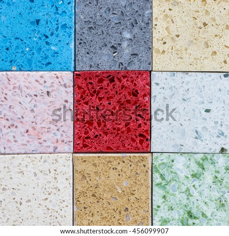 Tiled Flooring Tiles Colored Quartz Stock Photo Edit Now 456099907