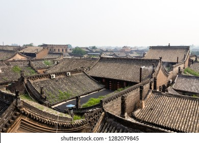 Tiled roof of the ancient city of Pingyao, Shanxi province, China. Known as one of the best preserved historical villages of China, Pingyao is a UNESCO world Heritage site