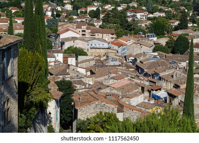 The tiled roofs of the city of Crest