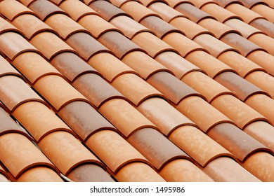 tiled rooftop.