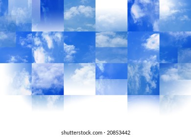 Tiled sky background