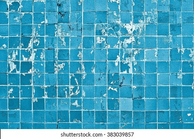 Tiled wall / Old tiles grunge background