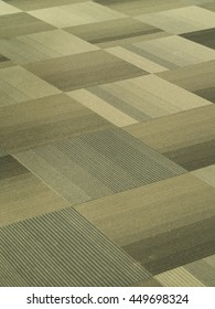Tiles Carpet with Light Brown and Grey stripes pattern