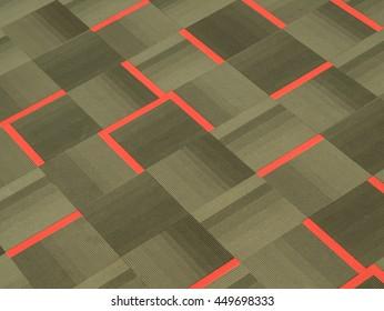 Tiles Carpet with stripes pattern