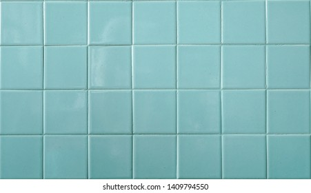 Tiles. A closed up pattern of a aqua blue bathroom tiles. for background, tile mosiac texture.