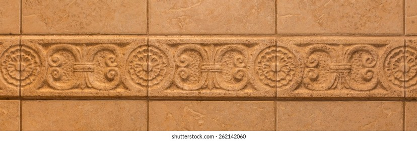 Tiles with mediterranean style ornament