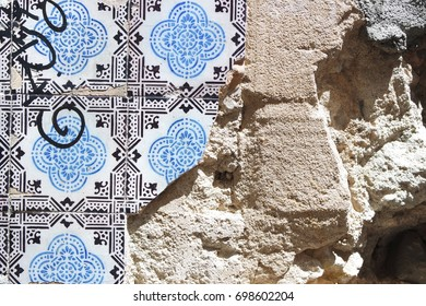 Tiles on wall in Lisbon